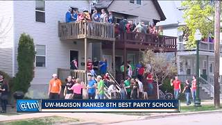 UW-Madison ranked 8th best party school