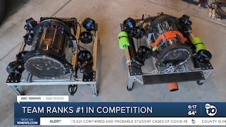 Local robotics team ranks #1 in global competition
