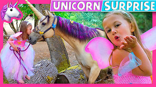 Little Girl Gets Real Unicorn Birthday Surprise - Video