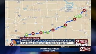 "110-mile ""March for Education"" to begin Wednesday morning"