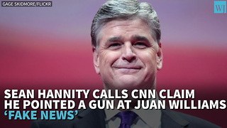 Hannity Calls CNN Claim He Pointed Gun At Juan Williams 'Fake News' - Video