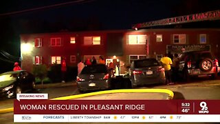 Woman in critical condition after fire in Plesant Ridge