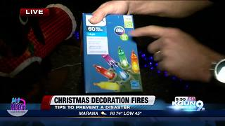NFPA: Tips on preventing Christmas decoration fires - Video