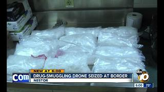 Drone caught flying packages of meth over San Diego border - Video
