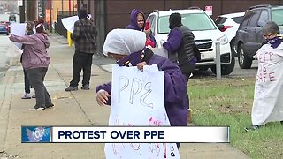 Cleveland nursing home workers demand more PPE from federal government