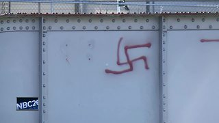 Swastika graffiti causing unease in De Pere - Video