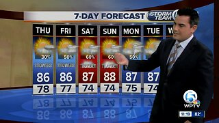 Latest Weather Forecast 11 p.m. Wednesday