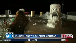 Elkhorn Snow Sculpting Competition - with tools
