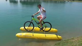 How to ride your bike on water