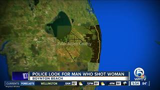 Woman shot in Boynton Beach robbery - Video
