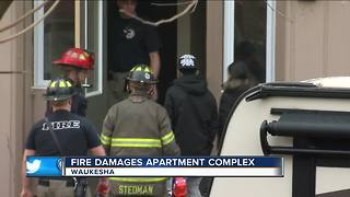 Overnight fire in Waukesha forces evacuation of entire apartment complex - Video