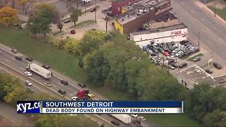 Dead body found on I-94 - Video