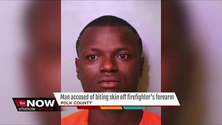 Man bites firefighter, batters police officers - Video