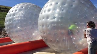 Giant Hamster Ball Race Fail - Video