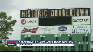 Dodgertown renamed in honor of Jackie Robinson 4/2