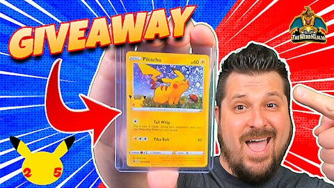 ⭐Giveaway⭐ Exclusive Pokemon 25th Anniversary Holo Pikachu from General Mills Cereal