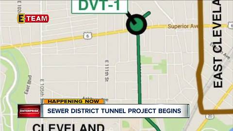 NE Ohio Regional Sewer District begins work on tunnel project at edge of University Circle