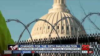 Changes made to the 59th Presidential Inauguration