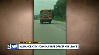 Alliance bus driver placed on administrative leave after Facebook video captures unsafe driving - Video
