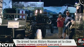 Armed Forces History Museum set to close due to lack of funds - Video