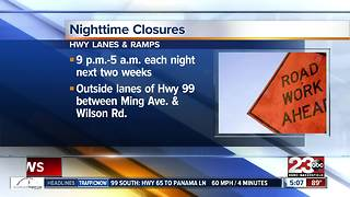 Nighttime road closures scheduled for the next two weeks - Video