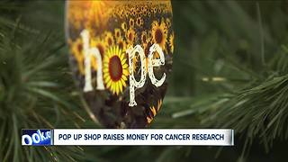 Pop up shop raises money for childhood cancer research - Video