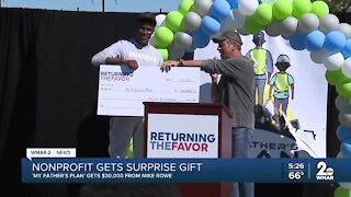 Nonprofit gets surprise gift, 'My Father's Plan' gets $30,000 from Mike Rowe