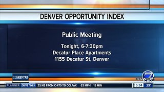 Denver Opportunity Index public meeting