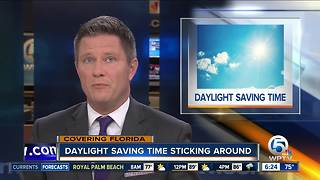 Florida isn't getting rid of Daylight Saving Time just yet - Video