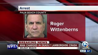 Delray Beach Lamborghini driver charged in crash that killed 82-year-old Uber driver - Video