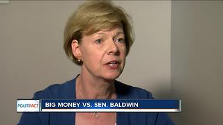 PolitiFact Wisconsin: Is Tammy Baldwin the biggest target of outside campaign spending in 2018? - Video
