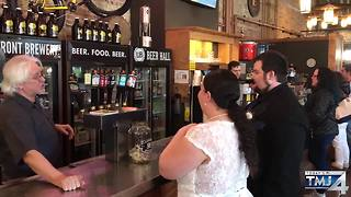 Couples get married at Lakefront Brewery on Valentine's Day - Video