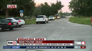 Man found dead in North Fort Myers home - 7am live report - Video