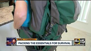 Man teaching others how to make survival bags - Video