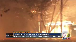 Local couple escaped California wildfires - Video