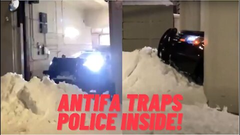 Seattle Antifa Trap Police Inside Garage With Snow Wall!