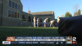 Loyola looking for upset in the Turkey Bowl - Video