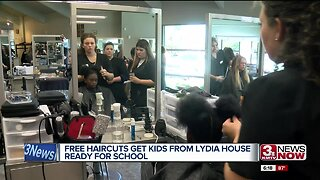 Free haircuts get kids from Lydia House ready for school