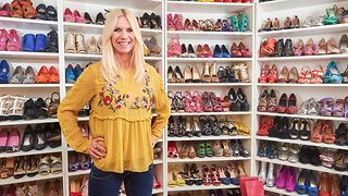Shoes glorious shoes! Woman boasts £28k collection of more than 400 heels - Video