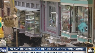 Old Ellicott City reopens on Small Business Saturday - Video