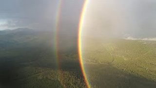 Beautiful Double Circle Rainbow in Skies Over Montana - Video