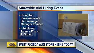 Every Aldi store in Florida holding a hiring event on Thursday - Video