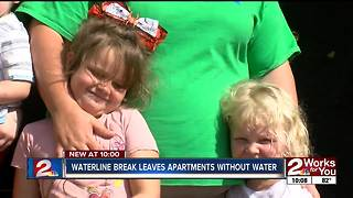 Waterline break leaves apartment without water