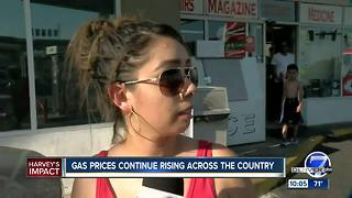Gas Prices increase due to Harvey - Video