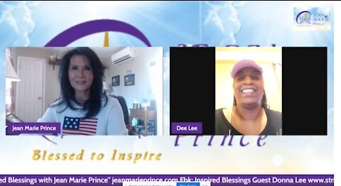 """Guest Donna Lee on """"Inspired Blessings with Jean Marie Prince."""""""