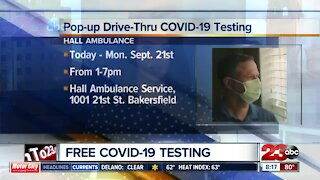 Free Pop-Up COVID-19 drive through testing offered at Hall Ambulance