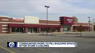 Communities work to fill building space after store closures - Video