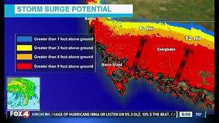 Hurricane Irma storm surge update -- 6pm Sunday - Video