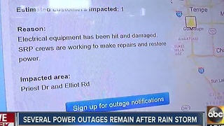 Thousands without power after strong storms move across Valley - Video