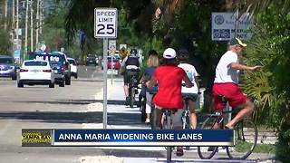 Bike lanes widened on portions of Anna Maria Island
